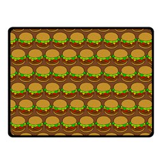 Burger Snadwich Food Tile Pattern Fleece Blanket (small)