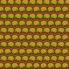 Burger Snadwich Food Tile Pattern Magic Photo Cubes