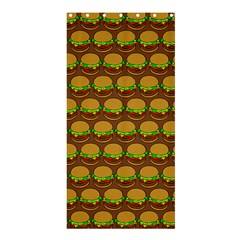 Burger Snadwich Food Tile Pattern Shower Curtain 36  X 72  (stall)