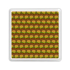 Burger Snadwich Food Tile Pattern Memory Card Reader (Square)