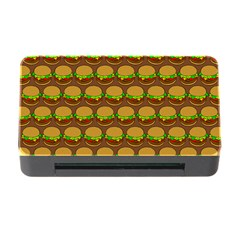 Burger Snadwich Food Tile Pattern Memory Card Reader with CF