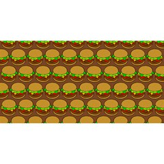 Burger Snadwich Food Tile Pattern YOU ARE INVITED 3D Greeting Card (8x4)