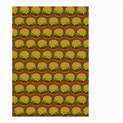 Burger Snadwich Food Tile Pattern Small Garden Flag (Two Sides)