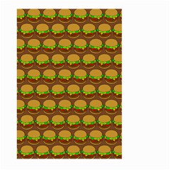 Burger Snadwich Food Tile Pattern Large Garden Flag (two Sides)