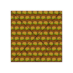 Burger Snadwich Food Tile Pattern Acrylic Tangram Puzzle (4  x 4 )