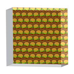 Burger Snadwich Food Tile Pattern 5  x 5  Acrylic Photo Blocks