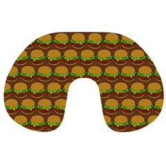 Burger Snadwich Food Tile Pattern Travel Neck Pillows