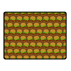 Burger Snadwich Food Tile Pattern Double Sided Fleece Blanket (Small)
