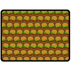 Burger Snadwich Food Tile Pattern Double Sided Fleece Blanket (Large)