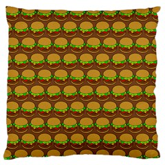 Burger Snadwich Food Tile Pattern Large Flano Cushion Cases (two Sides)