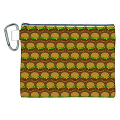 Burger Snadwich Food Tile Pattern Canvas Cosmetic Bag (xxl)