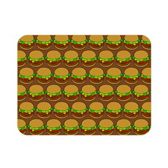 Burger Snadwich Food Tile Pattern Double Sided Flano Blanket (mini)