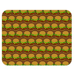 Burger Snadwich Food Tile Pattern Double Sided Flano Blanket (medium)