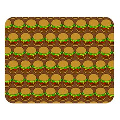 Burger Snadwich Food Tile Pattern Double Sided Flano Blanket (Large)