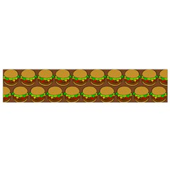 Burger Snadwich Food Tile Pattern Flano Scarf (Small)