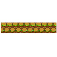 Burger Snadwich Food Tile Pattern Flano Scarf (Large)