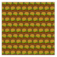 Burger Snadwich Food Tile Pattern Large Satin Scarf (Square)
