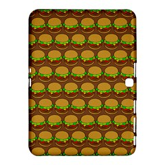 Burger Snadwich Food Tile Pattern Samsung Galaxy Tab 4 (10 1 ) Hardshell Case