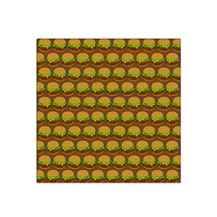 Burger Snadwich Food Tile Pattern Satin Bandana Scarf