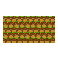Burger Snadwich Food Tile Pattern Satin Shawl
