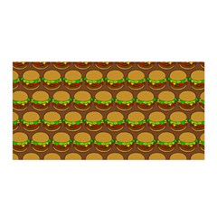 Burger Snadwich Food Tile Pattern Satin Wrap