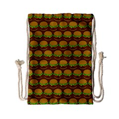 Burger Snadwich Food Tile Pattern Drawstring Bag (small)