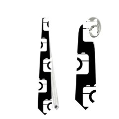 Modern Chic Vector Camera Illustration Pattern Neckties (Two Side)