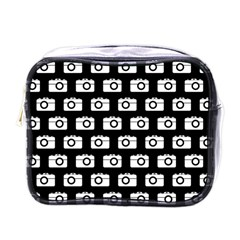 Modern Chic Vector Camera Illustration Pattern Mini Toiletries Bags