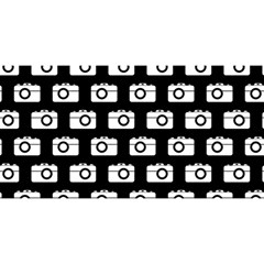Modern Chic Vector Camera Illustration Pattern You Are Invited 3d Greeting Card (8x4)