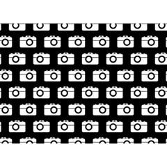 Modern Chic Vector Camera Illustration Pattern Birthday Cake 3d Greeting Card (7x5)