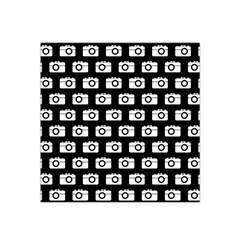 Modern Chic Vector Camera Illustration Pattern Satin Bandana Scarf