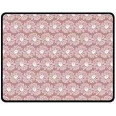 Gerbera Daisy Vector Tile Pattern Fleece Blanket (Medium)