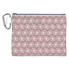 Gerbera Daisy Vector Tile Pattern Canvas Cosmetic Bag (XXL)
