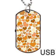 Heart 2014 0903 Dog Tag USB Flash (Two Sides)