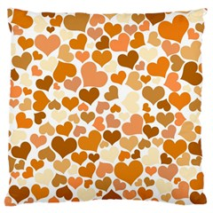 Heart 2014 0903 Large Flano Cushion Cases (Two Sides)