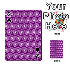 Gerbera Daisy Vector Tile Pattern Playing Cards 54 Designs