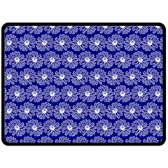 Gerbera Daisy Vector Tile Pattern Fleece Blanket (Large)