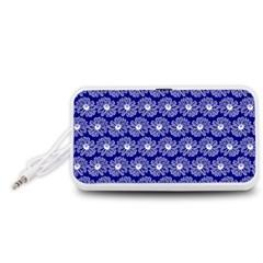 Gerbera Daisy Vector Tile Pattern Portable Speaker (White)