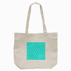 Gerbera Daisy Vector Tile Pattern Tote Bag (Cream)