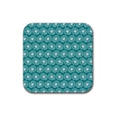 Gerbera Daisy Vector Tile Pattern Rubber Coaster (square)