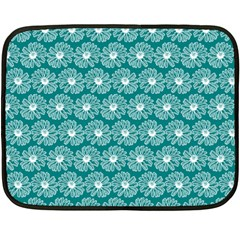 Gerbera Daisy Vector Tile Pattern Fleece Blanket (Mini)