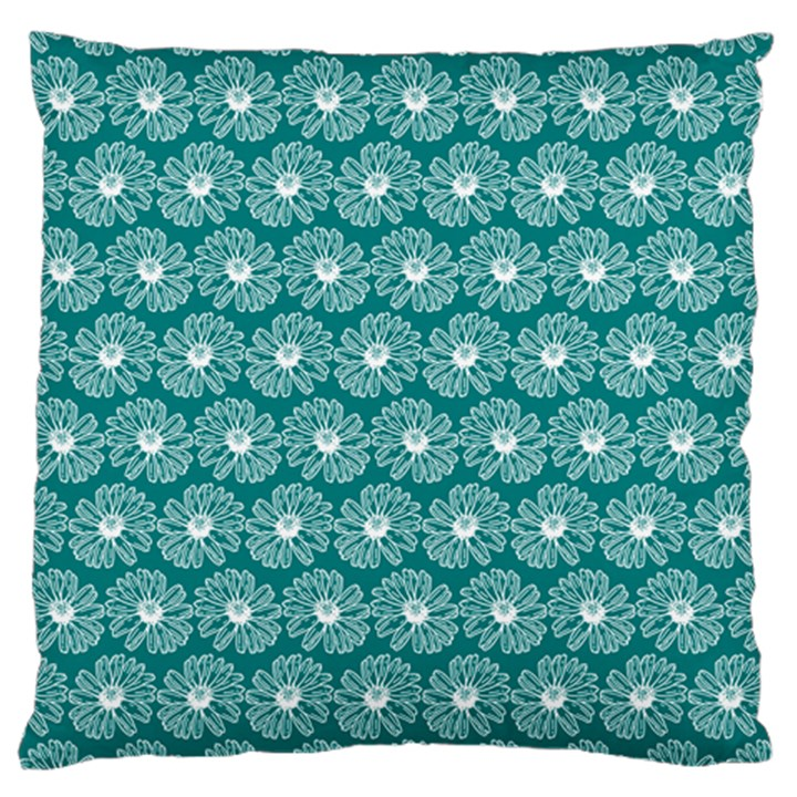 Gerbera Daisy Vector Tile Pattern Large Cushion Cases (Two Sides)
