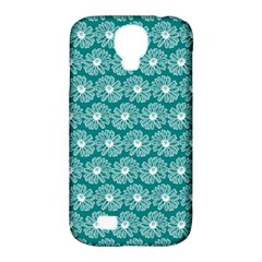 Gerbera Daisy Vector Tile Pattern Samsung Galaxy S4 Classic Hardshell Case (pc+silicone)