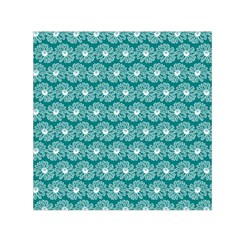 Gerbera Daisy Vector Tile Pattern Small Satin Scarf (Square)