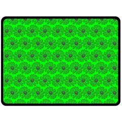 Gerbera Daisy Vector Tile Pattern Double Sided Fleece Blanket (large)