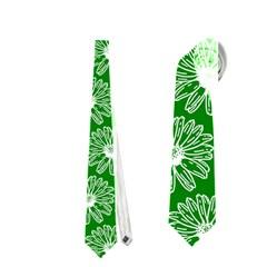 Gerbera Daisy Vector Tile Pattern Neckties (one Side)