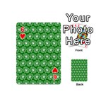 Gerbera Daisy Vector Tile Pattern Playing Cards 54 (Mini)  Front - Heart6