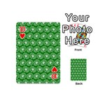 Gerbera Daisy Vector Tile Pattern Playing Cards 54 (Mini)  Front - Heart10