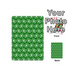Gerbera Daisy Vector Tile Pattern Playing Cards 54 (Mini)  Back