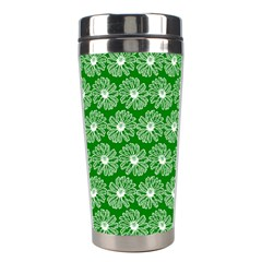 Gerbera Daisy Vector Tile Pattern Stainless Steel Travel Tumblers